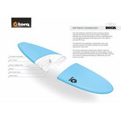 Surfboard TORQ Softboard 8.0 Longboard Blue – Bild 2