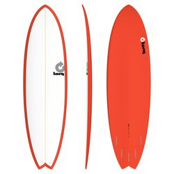 Surfboard TORQ Epoxy TET 6.10 Fish White Red – image 1