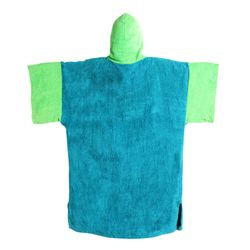 MADNESS Change Robe Poncho Unisize Teal-Lime – Bild 2