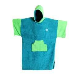 MADNESS Change Robe Poncho Unisize Teal-Lime – image 1