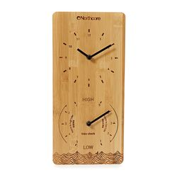 Northcore Time and Tide Bamboo Wall Clock – image 1
