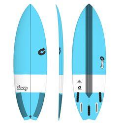 Surfboard TORQ Epoxy TEC Performance Fish 6.6 blue – image 1