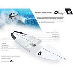 Surfboard TORQ Epoxy TEC Fish 5.10 – image 2