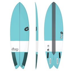 Surfboard TORQ Epoxy TEC Fish 5.8 blue – image 1
