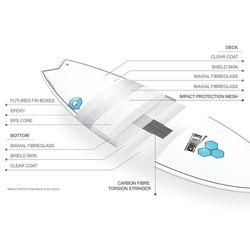 Surfboard CHANNEL ISLANDS X-lite Pod Mod 6.6 weiss – image 3