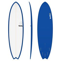 Surfboard TORQ Epoxy TET 6.10 Fish White Navy – image 1