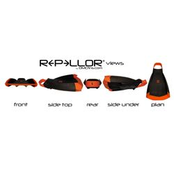 DMC REPELLOR Flosse Gr L 44-45 Orange Gelb – image 2