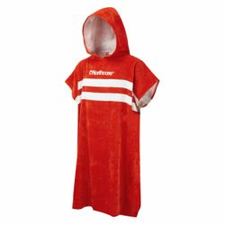 "Northcore ""Beach Basha""- Frottee Poncho RED Stripes – Bild 1"