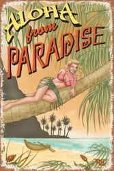 Aloha from Paradise - Metal Sign SURF