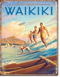 Waikiki - Metal Sign SURF