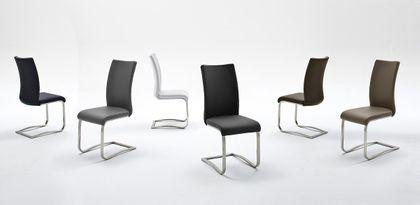 Swingstuhl Arco II Weiß Leder (2er Set)