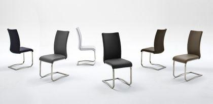 Swingstuhl Arco II Weiß Leder (6er Set)