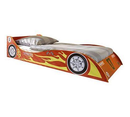 Kinderbett Rennwagen Autobett rot 90x200 cm