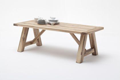 MCA Furniture Esstisch BRISTOL 180x100 cm, BRIS18 EV Eiche verwittert lackiert