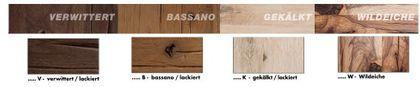 MCA Furniture BRISTOL 260x100 cm, BRIS26 EW Wildeiche lackiert 260 cm – Bild 6