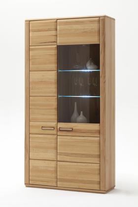 MCA Furniture Sena Kombivitrine L, EB200T12 Eiche Bianco – Bild 1