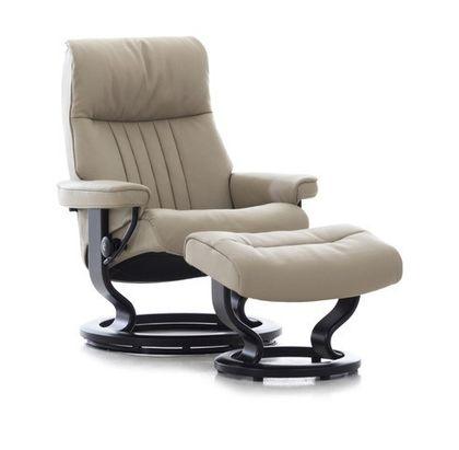 Stressless Crown L Relaxsessel mit Hocker mole/black medium