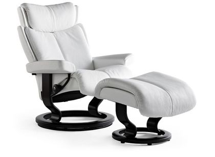 Stressless Magic L Relaxsessel mit Hocker snow/black large – Bild 2