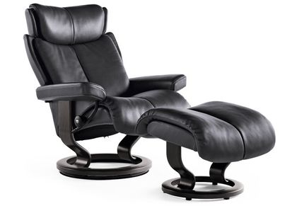 Stressless Magic M Relaxsessel mit Hocker Rock/wenge medium – Bild 1