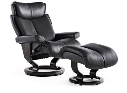 Stressless Magic L Relaxsessel mit Hocker Rock/wenge large – Bild 1