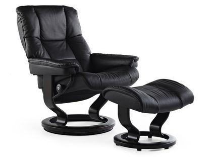 Stressless Mayfair L Relaxsessel mit Hocker black/black large