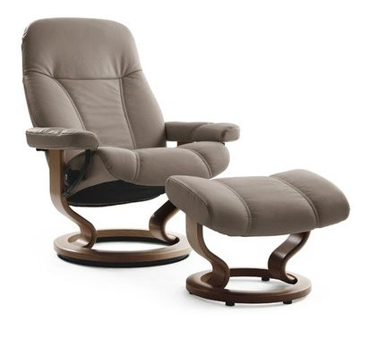 Stressless Consul S Relaxsessel mit Hocker mole/walnuss small