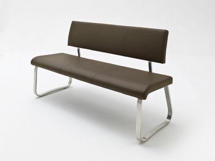 MCA Sitzbank Arco 155 cm in Lederoptik mit Rückenlehne – Bild 3