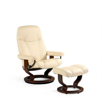 Stressless Consul S Relaxsessel mit Hocker cream small Ausstellungsstück! – Bild 2