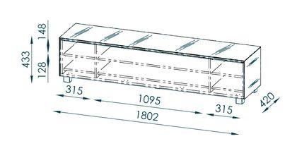 Maja Möbel Soundboard 180 cm Glas himbeerrot matt 7738 - 5373 – Bild 5