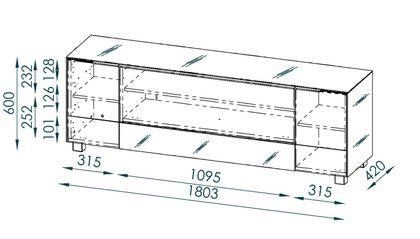 Maja Möbel Lowboard 180 cm Glas sand matt 7772 - 23IR – Bild 2