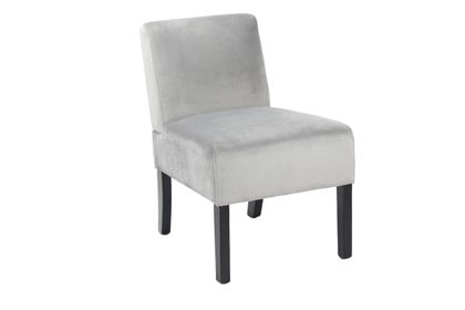 Stuhl Samt grau – Bild 1