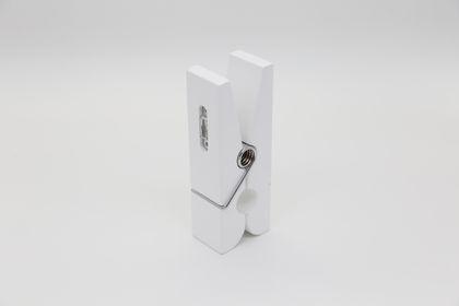 Notiz Holz Klammer Wäscheklammer Wandhalter XL weiß – Bild 3