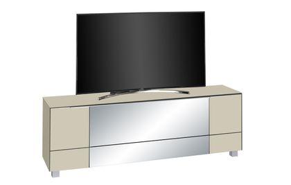 Maja Möbel Lowboard Glas sand matt - Infrarotspiegel grau 7772 - 23IR