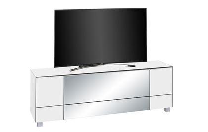 Maja Möbel Lowboard Weißglas matt - Infrarotspiegel grau 7772 - 36IR