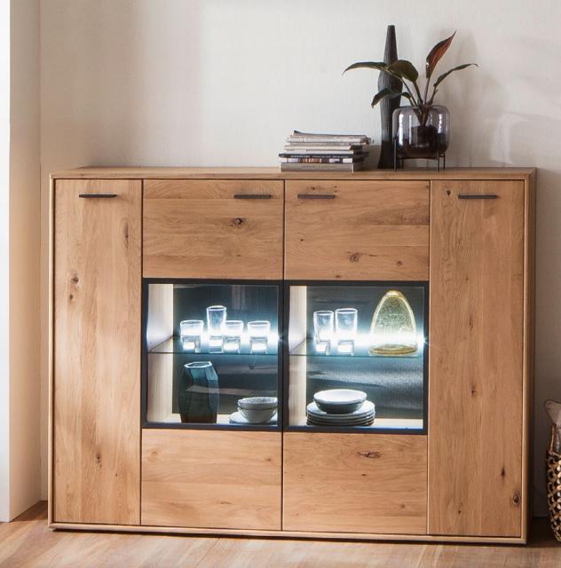 Mca Furniture Highboard Portland Eiche Bianco Esp11t05 Mega Sparmarkt