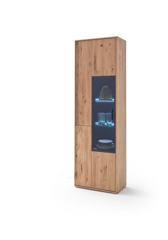 Mca Furniture Portland Vitrine Por17t10 Eiche Bianco Mega Sparmarkt