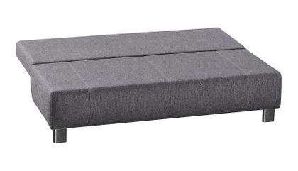 Modernes Schlafsofa Lambert Querschläfer mit Bettkasten grau – Bild 2