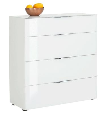Maja Möbel Kommode weiß matt - weißglas 7810 3468 – Bild 1