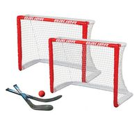 """BAUER Knee Hockey Goal 2er Set 30.5"""" - 2 Tore, 2 Ministicks & 1 Foam Ball"""