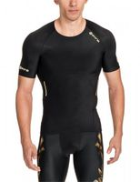 SKINS A400 Men's Top Short Sleeve Gold B32156005