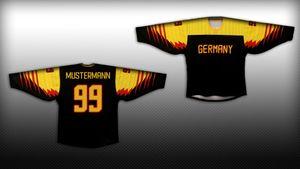 Deutschland Eishockey Fan Trikot schwarz / gold