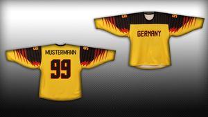 Deutschland Eishockey Fan Trikot Gold / Schwarz – Bild 1