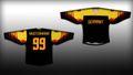 Deutschland Eishockey Fan Trikot schwarz/Gold 001