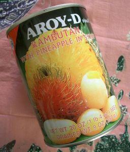 Thai Rambutan mit Ananas in Sirup 565 g sehr lecker !