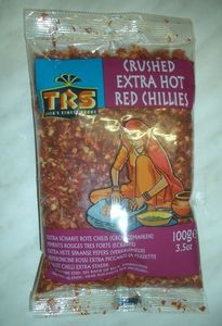 CHILI  GROB GEMAHLEN   100 g  CRUSHED CHILLI  EXTRA  HOT
