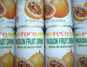 PASSION FRUIT DRINK  330 ml FOCO THAILAND