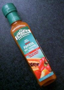 ENCONA  PAPAYA HOT  PEPPER  SAUCE  142 ml