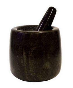 Stein Mörser Ø 11 cm  Höhe 12 cm Moerser mit Stößel #172