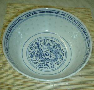 SCHÜSSEL SUPPENSCHALE  17,5 cm  REISKORN PORZELLAN CHINA