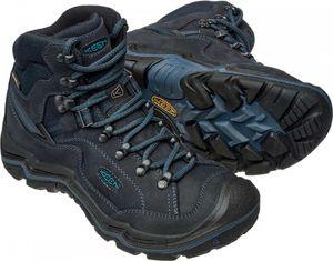 Keen Damen Wander-Schuhe Galleo Mid Leder Hiking Schuhe blau wasserdicht – Bild 2